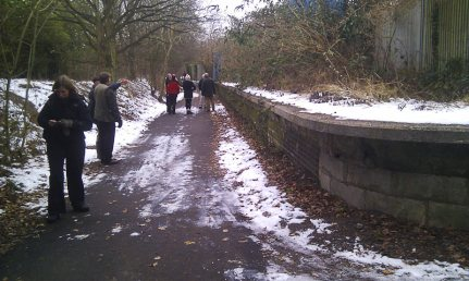 Visiting Smallford Platform in the Snow February 2012