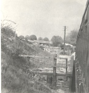 Sanders Halt from passenger train 1950