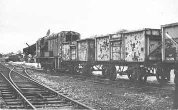 Smallford - 18 Shunting Wagons in Siding Oct 1967