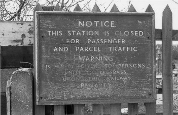 St Albans London Rd 10 closure notice 1975