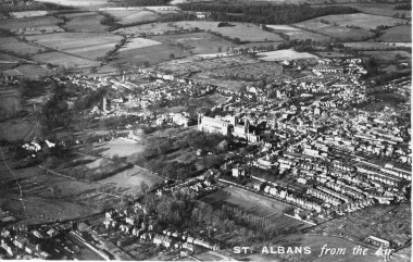 old arial view of St Albans