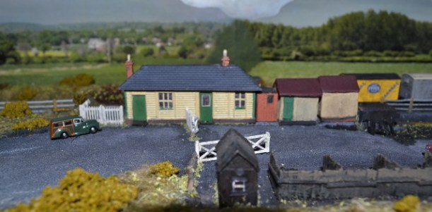 The station and its outbuildings ('N-Gauge' scale is approx. 2mm to 1 ft – about 1/150th of full size)!