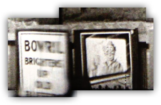 Bovril Brightens up old Buffers - a collage from various stills taken from the 1933 footage