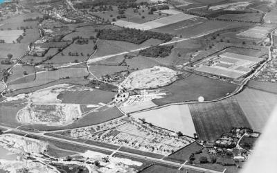 Smallford Station 1939 From the Air – Britain From Above