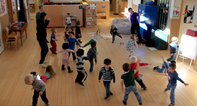 Children playing in great room