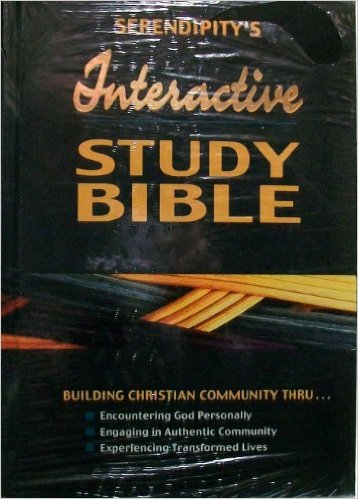 "From the back cover: ""Interactive Study Bible: the culmination of 40 years of community building by Serendipity House Publishers. now the complete Bible with group studies and resource notes integrated into a biblical curriculum to produce transformed lives... *Interactive Group Studies * Bible Resource Notes * Courses * Reading and Study Plans."