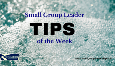 Small Group Leader TIP of the Week - Overflow