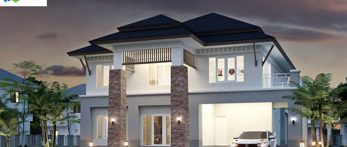 House Plans Idea 18×22 with 4 Bedrooms