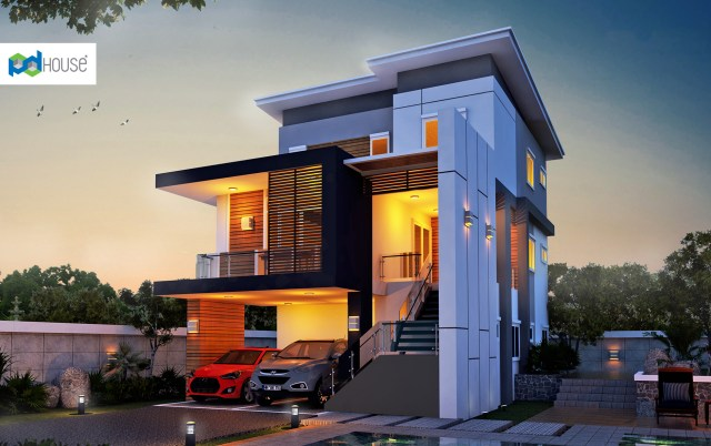 Modern House Plans 11x20.5 with 4 Bedrooms