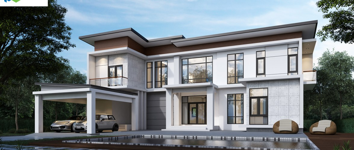 New House Design Plot 20×23 with 5 Bedrooms