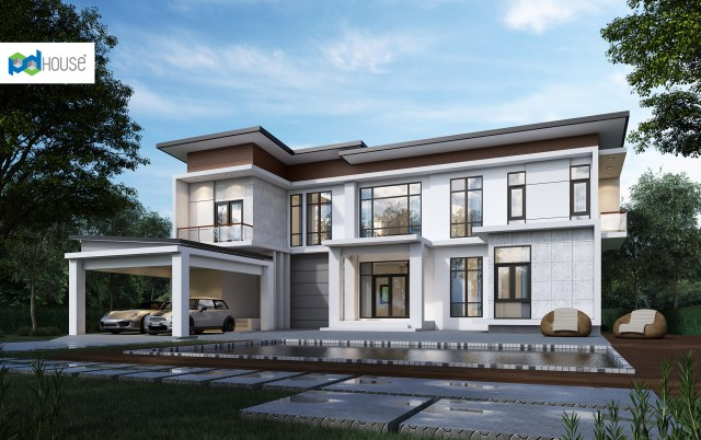 New House Design Plot 20x23 with 5 Bedrooms