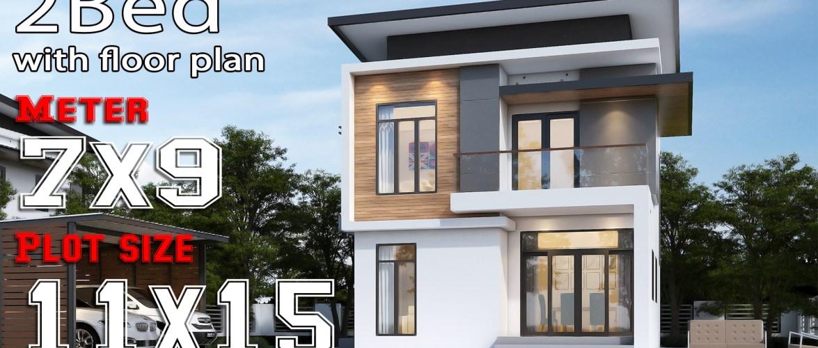 Small Modern House 7×9 Meters 2 Bedrooms