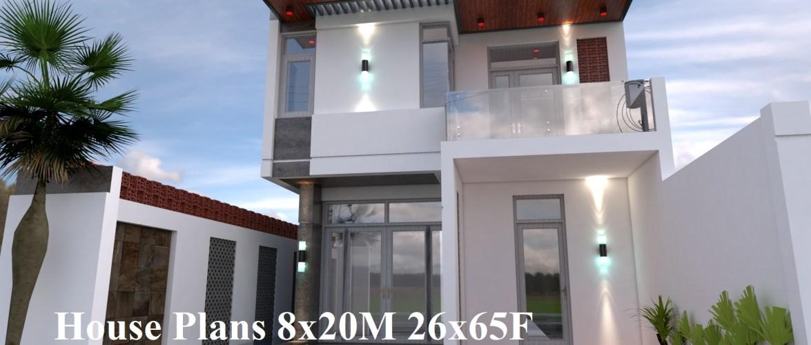 House Plans 8x20M 26x65F