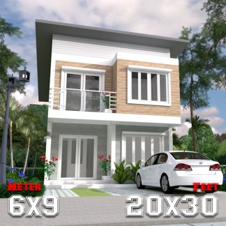 Cool House Plans 6x9 Meter 20x30 Feet 3 Beds a1