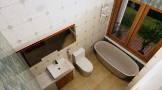 Small House Design 7x7 Meter 23x23 Feet One Bed Bathroom