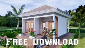 Small House Design 7x7 Meter 23x23 Feet One Bed Free download