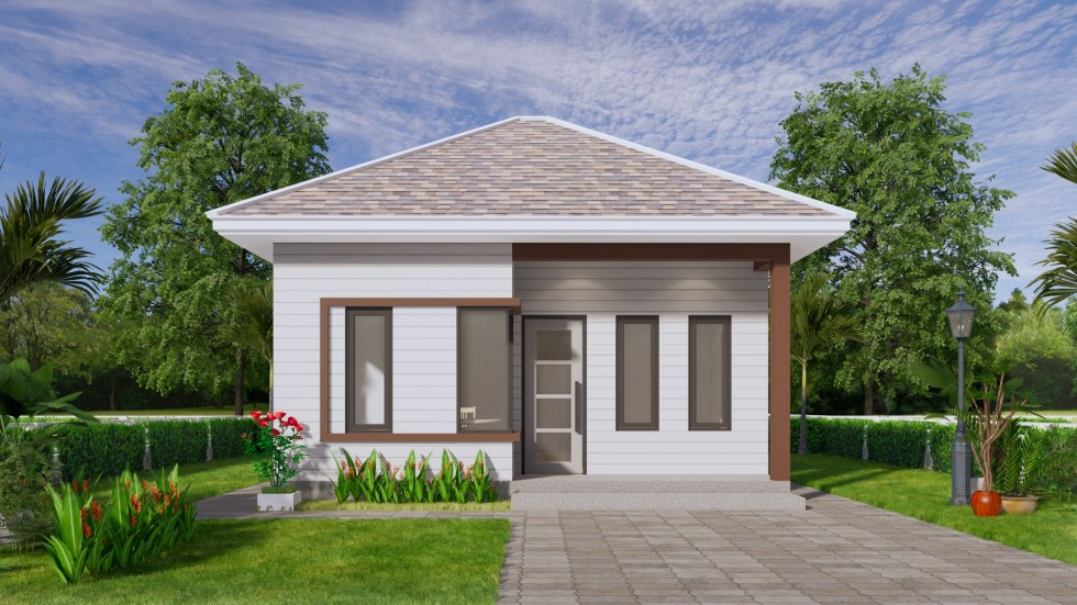 Small Home Design 6.5x6 Meter 22x20 Feet Hip Roof 2