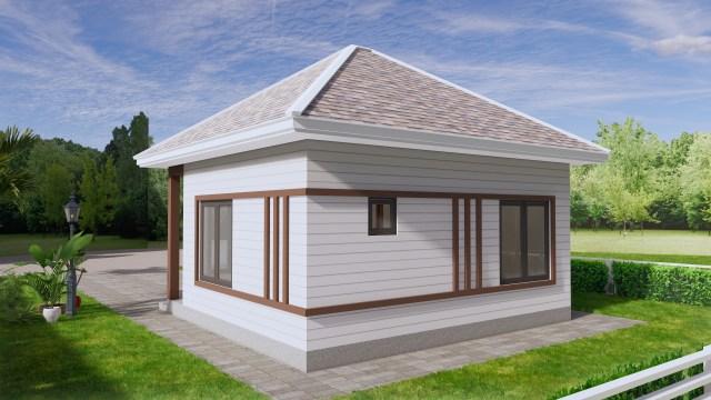 Small Home Design 6.5x6 Meter 22x20 Feet Hip Roof 6