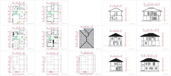 Full House plan 8x10