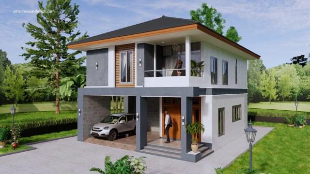 Small House Design 8x10 Meter 27x40 Feet 4 Beds 3