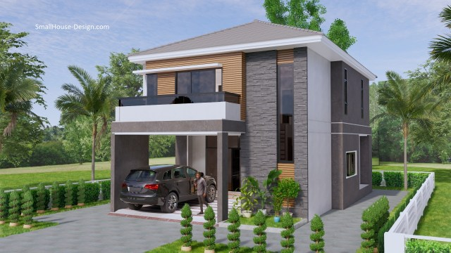 Small House Plan 7.5x11.7 Meter 25x40 Feet 4 Beds 1