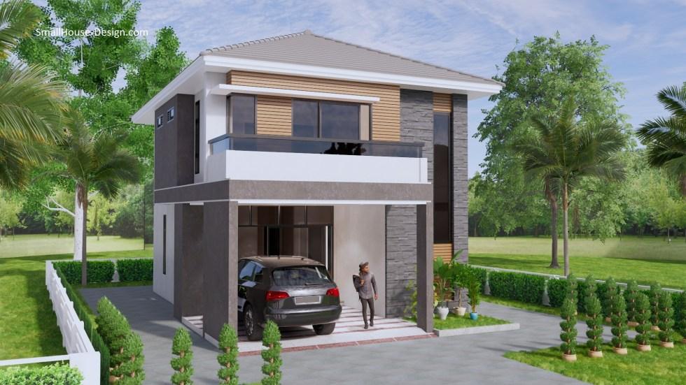 Small House Plan 7.5x11.7 Meter 25x40 Feet 4 Beds 3