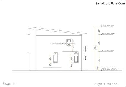 11 Right elevation plan House design Idea 6x8.5 PDF Full Plans