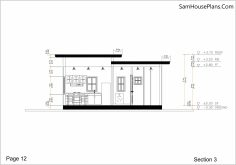 Small House Plan 7x7 with 1 Bedroom Flat Roof section 3