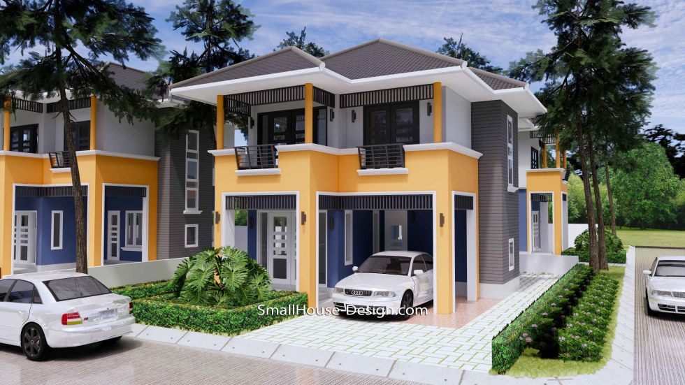 20x31 Small House Plan 3 Bedrooms Hip Roof 6x9.5 M 1