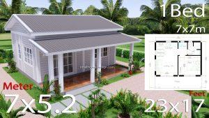 Granny Flat 7x5.2 Meter 1 Bedroom Gable Roof