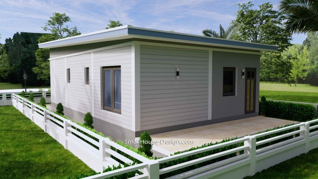 Small House Design 7x11 Meters 2 Bedrooms Shed Roof 23x36 Feet 6