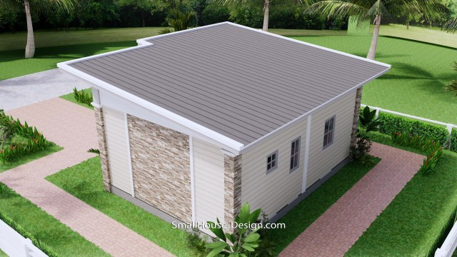 Small House Design 7x6 Shed Roof 1 Bed PDF Full Plans 8
