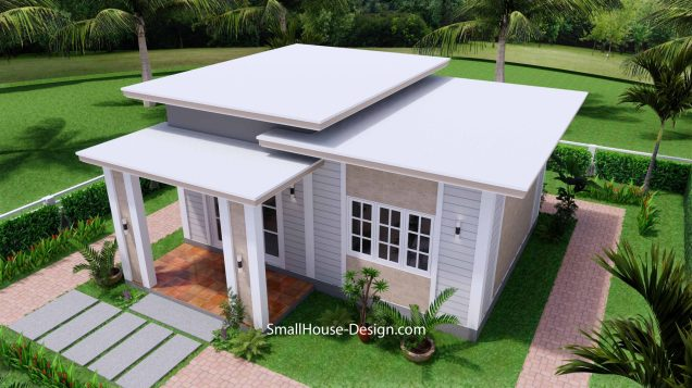 Small House Plan 7x7 with 1 Bedrooms Flat Roof 5