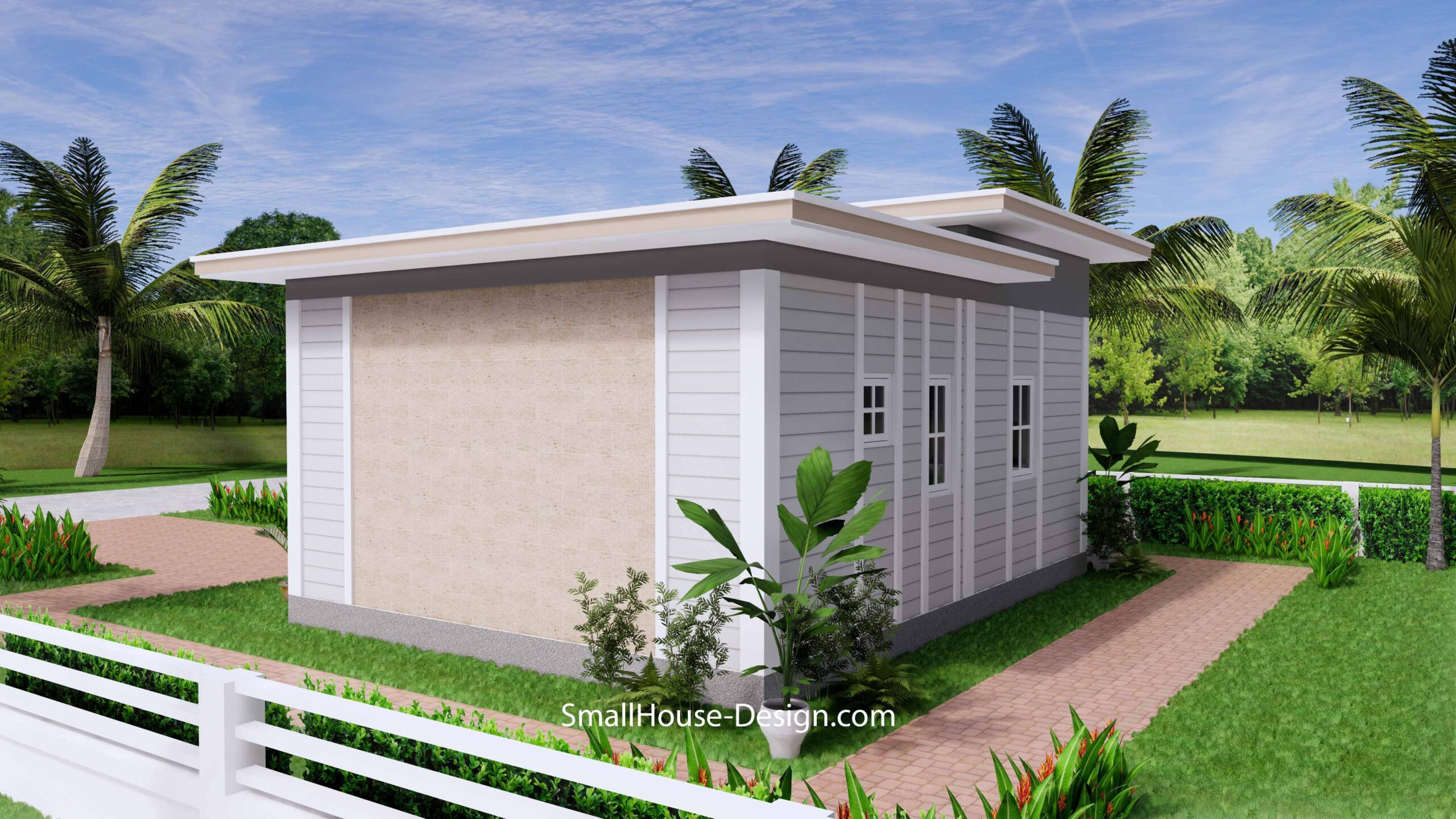 Small House Plan 7x7 with 1 Bedrooms Flat Roof 6