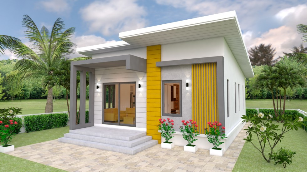 Small House Plans 7x12 with 2 Bedrooms Free download 1