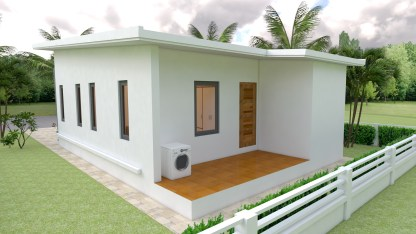 Small House Plans 7x12 with 2 Bedrooms Free download 5