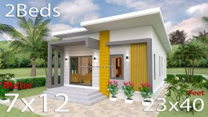 Small House Plans 7x12 with 2 Bedrooms Free download