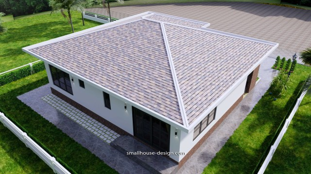 House Design Plans 12x12 Hip Roof 2 Bedrooms 6