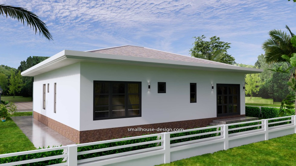 House Design Plans 12x12 Hip Roof 2 Bedrooms 8