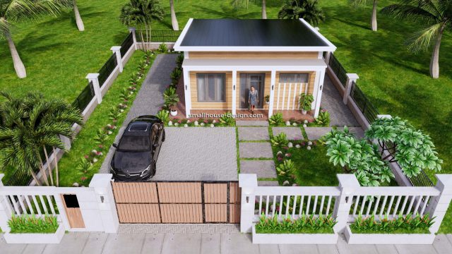 7x8 Meters Small House Design One Bedrooms 3d 10