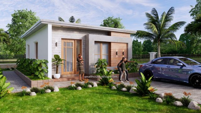 Small House Design 6x8 with 2 Beds 48 sqm 3d 2