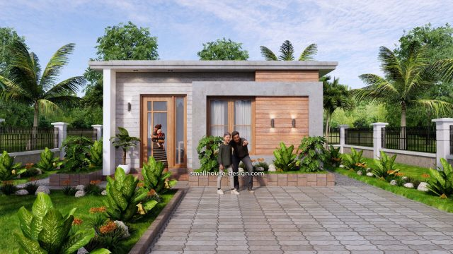 Small House Design 6x8 with 2 Beds 48 sqm 3d 3