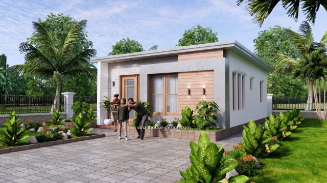 Small House Design 6x8 with 2 Beds 48 sqm 3d 4