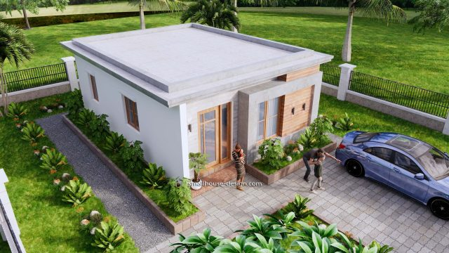 Small House Design 6x8 with 2 Beds 48 sqm 3d 6