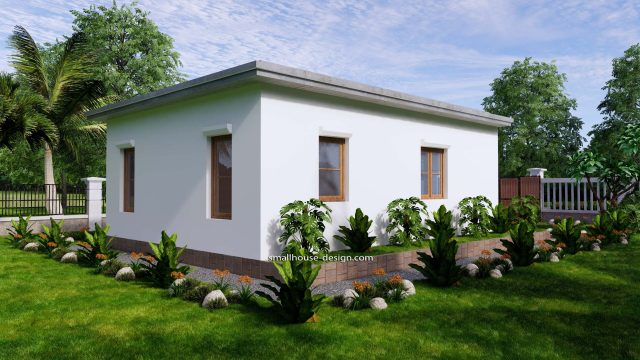 Small House Design 6x8 with 2 Beds 48 sqm 3d 7