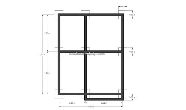 Small House Design 6x8 with 2 Beds 48 sqm 3d Beam