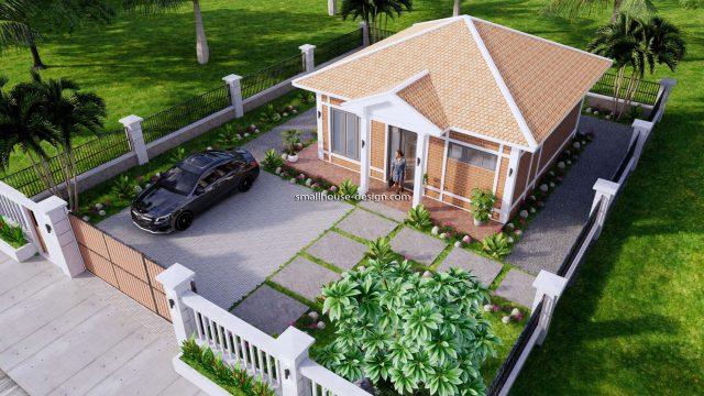 Small House Plans 7x7M with One Beds Full Layout 10