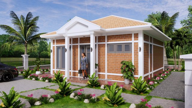 Small House Plans 7x7M with One Beds Full Layout 3
