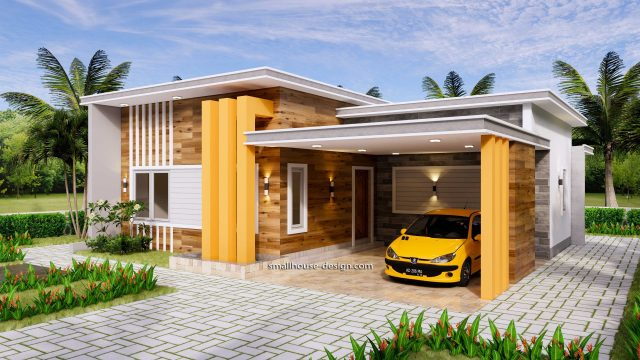 12x11 Small House Plan 3 Bedrooms 40x36 Feet Flat Roof