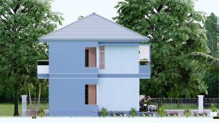 Small House Plan 11.8x7.5 meters 3 Beds 39x25 Feet Full PDF Plan Elevation Left